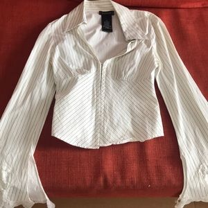Bebe Blouse with Lace Sleeves Size XS